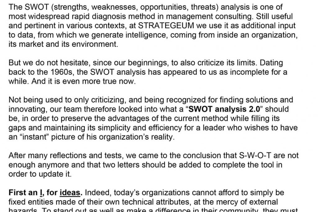 The SWOT is not enough anymore